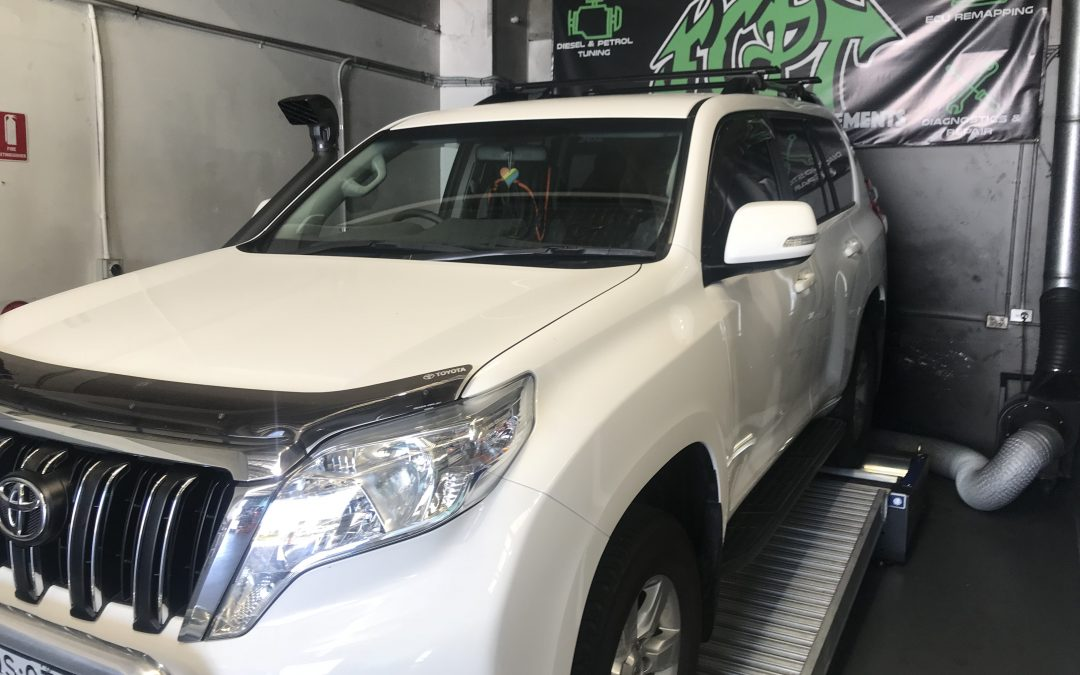 2017 TOYOTA PRADO 2.8 TURBO DIESEL ECU REMAP AND SAFARI SNORKEL